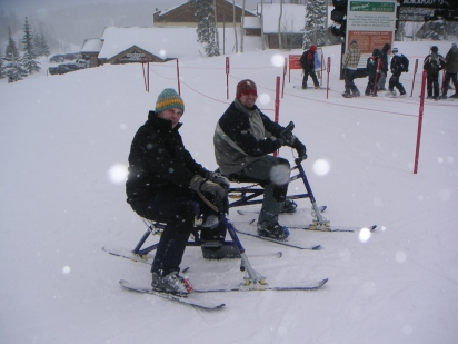 A throwback to the time Shaun and I tried Ski bikes.