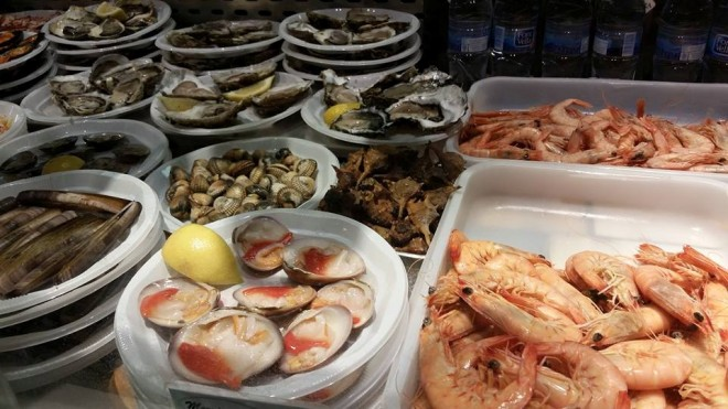 Seafood in the market